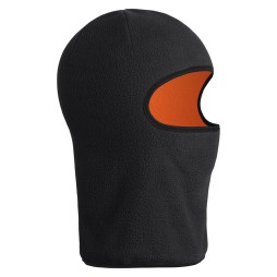 Black Reversible Micro Fleece Hood