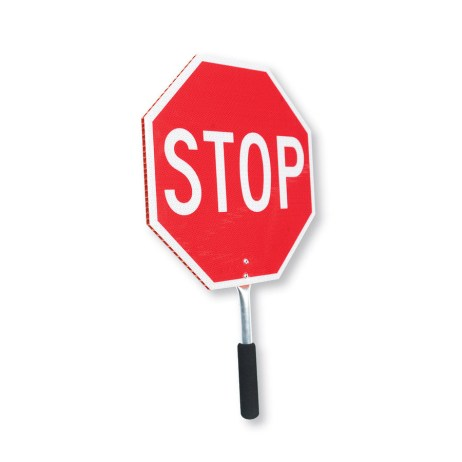 two sided stop slow sign coroplast plastic