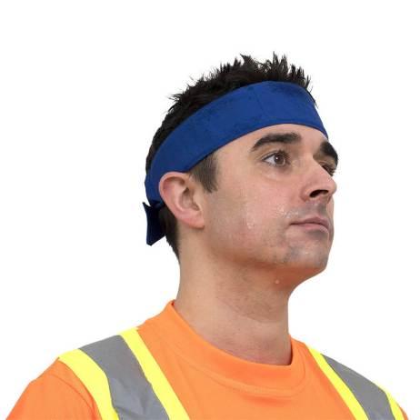 ultra cooling headband blue