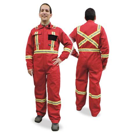 red fire resistant coveralls