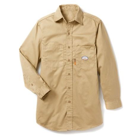khaki lightweight fr work shirt