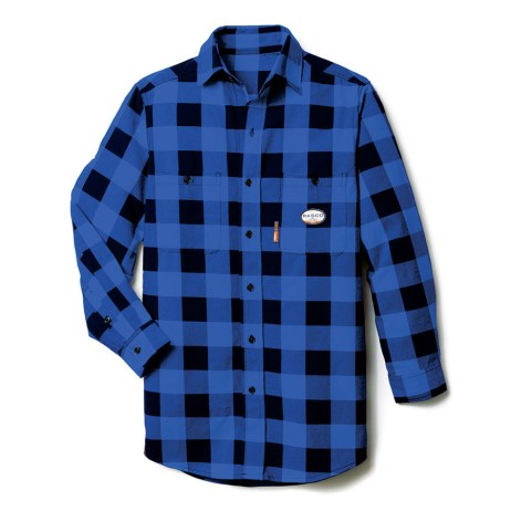blue plaid fr shirt