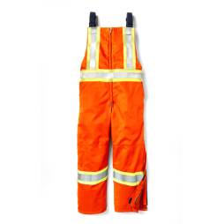 hi vis insulated bib front orange