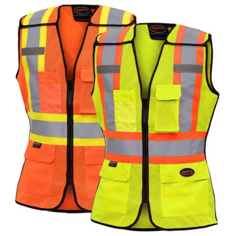 ladies traffic safety tear away vest