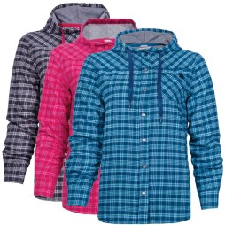 lined flannel hooded shirts