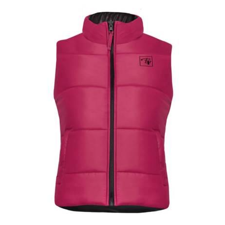 raspberry reversible insulated ladies vest