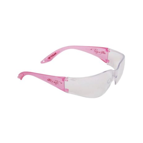 pink safety glasses