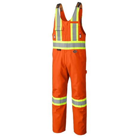 orange fr tech safety bib overalls