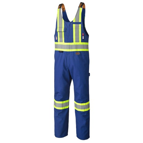 blue fr hi vis safety overalls