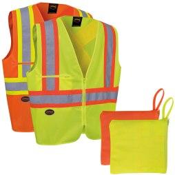 hi-viz vest in a pouch