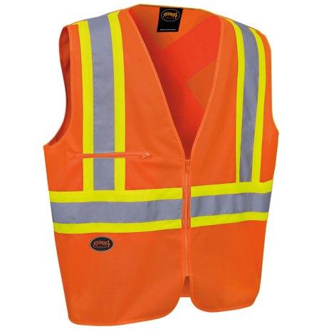 tricot hi-viz orange vest
