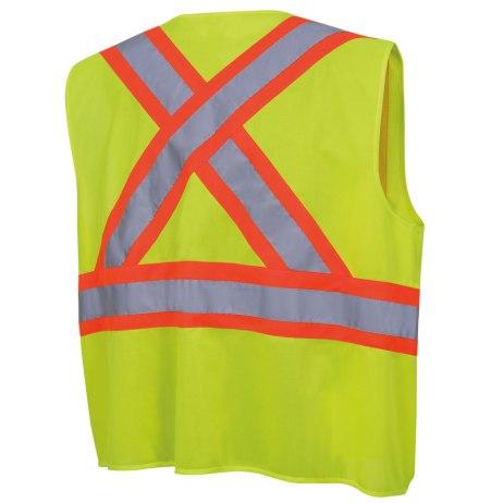 tricot hi-viz yellow vest