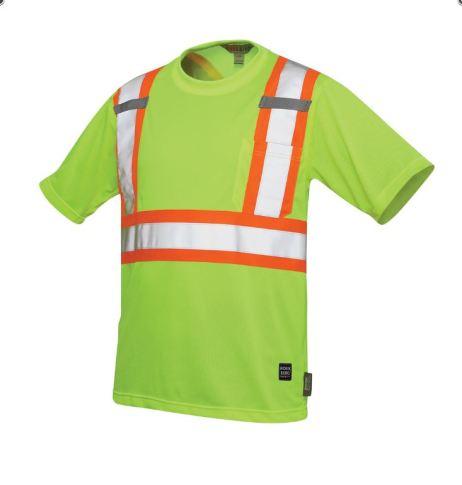 hi-viz mesh t-shirt yellow