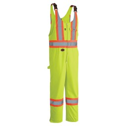 yellow hi-viz poly/cotton overall