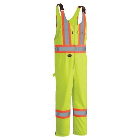 yellow hi-viz poly/cotton overall