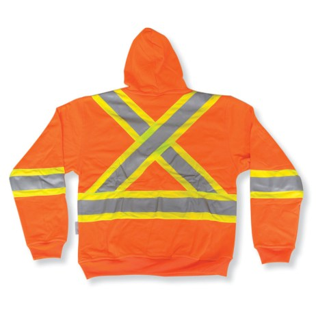 back orange hi vis pullover hoodie