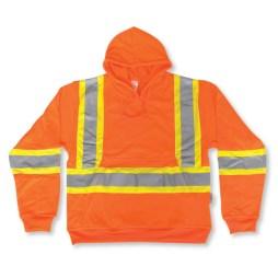 orange big k hi vis pullover hoodie