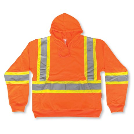 orange big k hi vis pullover hoodie