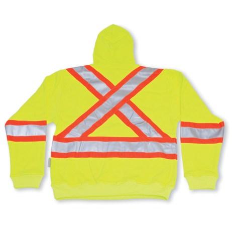 hi vis pullover yellow hoodie
