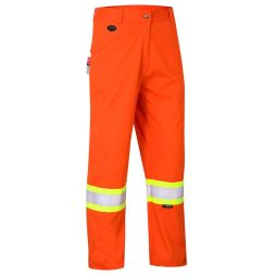 fr tech hi vis orange safety pants