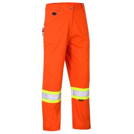 fr tech hi vis orange safety pants
