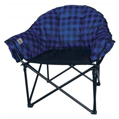 Blue Plaid Lazy Bear Chair