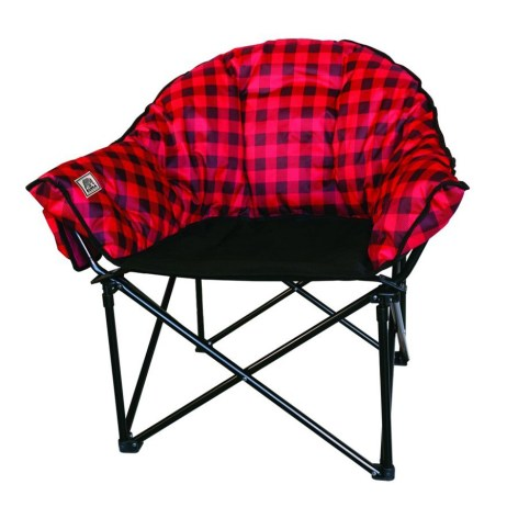 red plaid lazy bear chair