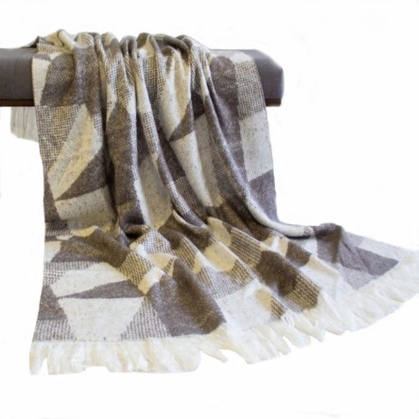 taupe rylie loft throw with fringe