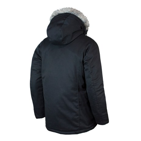 black women's parka with fur hood