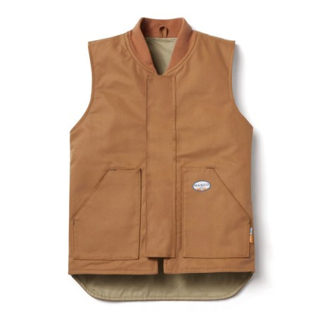 brown fr insulated work vest