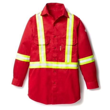 red fr uniform shirt