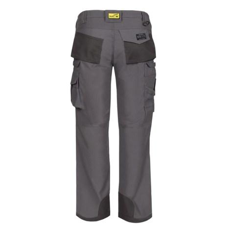 mens multi pocket work pants grey back