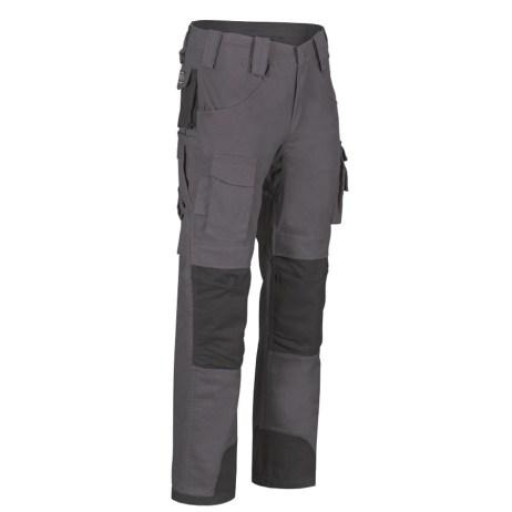 mens multi pocket work pants grey front