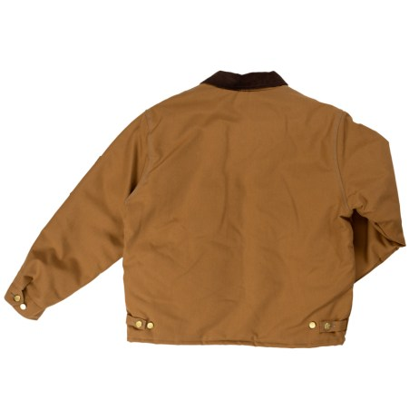 brown chore jacket back