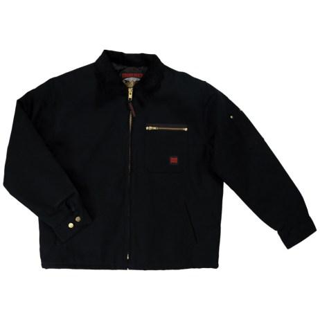 black chore jacket