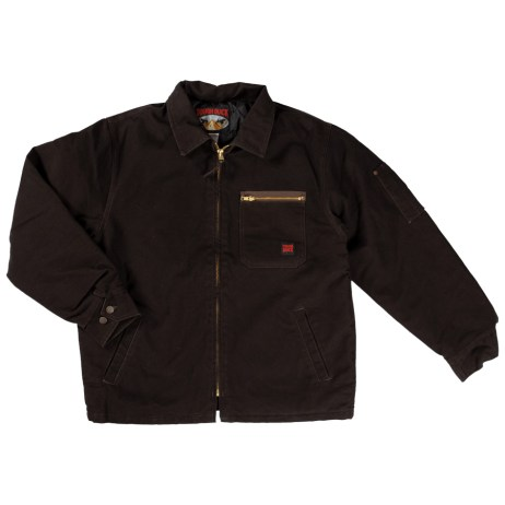 chore jacket dark brown