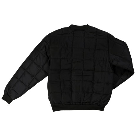 quilted bomber jacket back