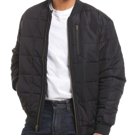 tough duck quilted bomber jacket