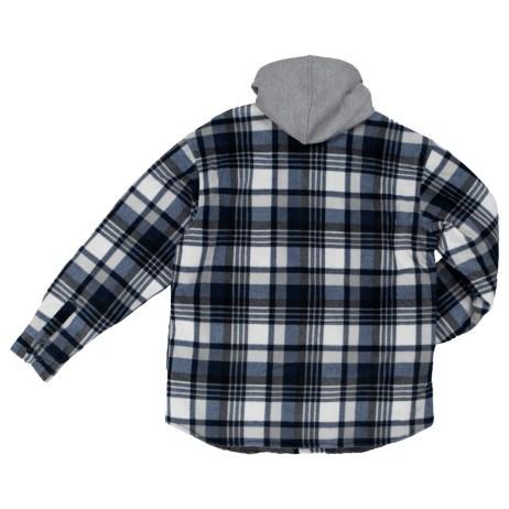plaid sherpa lined fleece shirt