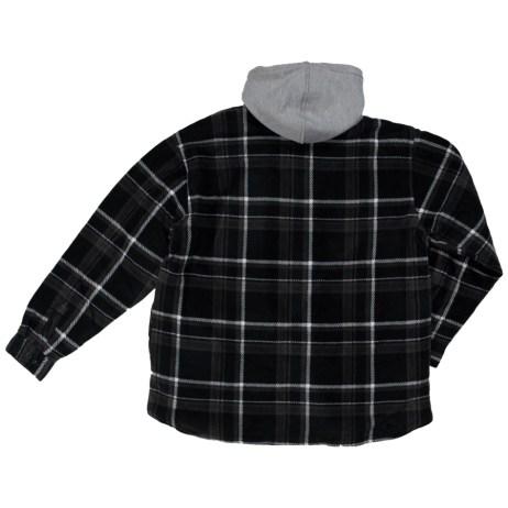 black back sherpa lined fleece shirt