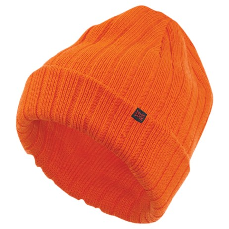orange chunky watch cap