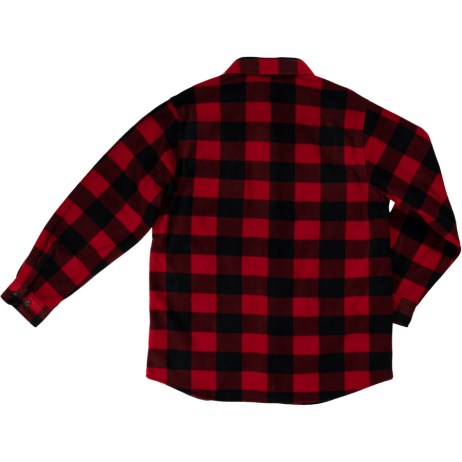 back red plaid buffalo check fleece shirt
