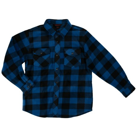 blue buffalo check fleece shirt