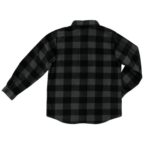 grey buffalo check shirt back