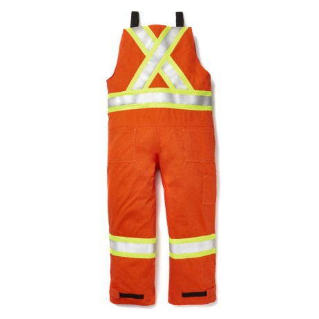 fr hi vis unlined bib overalls orange