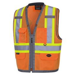 Orange Mesh Surveyor Vest