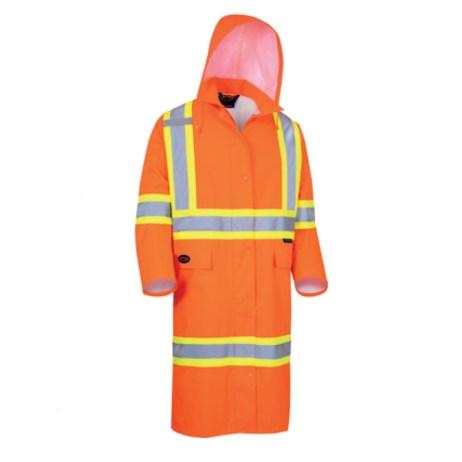 Long Orange Rain Coat