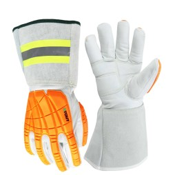 White and Orange Gloves
