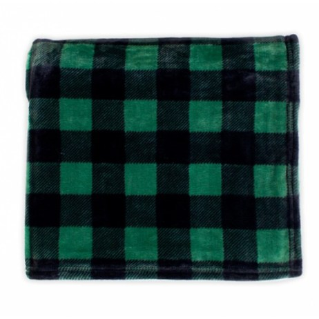 Green Plaid Throw