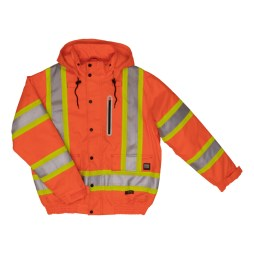 orange safety bomber jacket front